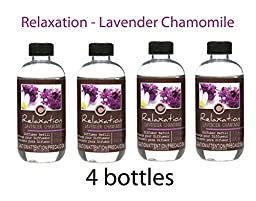 Bulk Buy Super Value, Hosley\'s Premium Lavender Chamomile (Relaxation) Reed Diffusers Refill Oil, Box of 4 / 230 Ml Each - Made in USA
