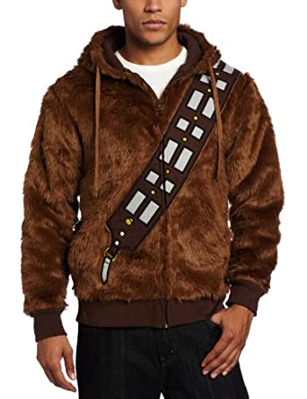 Star Wars Men's I am Chewie Fleece Hoodie, Brown, Small