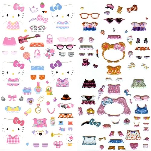 Original Sanrio Hello Kitty Design Dress up Stickers