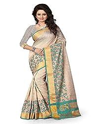 Dealseven Fashion New Beige Colure Cotton Woman Silk Saree