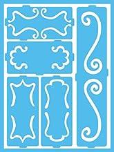 DecoArt Patio Paint Self-Adhesive Stencils 6 by 8-Inch Decorative Scrolls