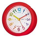 Acctim 14604 Lulu Time Teaching Alarm Clock, Red