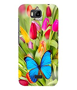 Fuson 3D Printed ButterFly Wallpaper Designer Back Case Cover for Huawei Honor Bee - D838