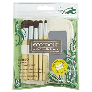 Ecotools Bamboo Eye Brush Set, 6 Piece