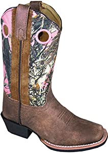 Smoky Mountain 3449 Girl's Mesa Leather Boot Brown/Pink Camo Child's 12 M US