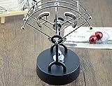 JLERU En abanico Juguete de escritorio balance de la horquilla pegatina de Bolas Ciencia Física de Newton asteroide Kinetic (Plata-Ronda)