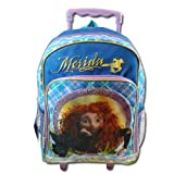 Disney Pixar Brave Backpack Merida 16 Rolling Bookbag For School side pocket