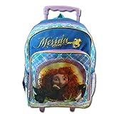 Disney Pixar Brave Backpack Merida 16 Rolling Bookbag For School side pocket