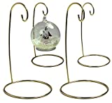 Metal Wire Ornament Stands Display Holder Gold Colored 7 Inches High Set Of 4