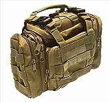 (ボナスティモーロ) Buona stimolo 3way 大容量 フィッシング バッグ タクティカル ミリタリー 釣り アウトドア に ポケット いっぱい 多機能 タックル バック (02:カーキ)