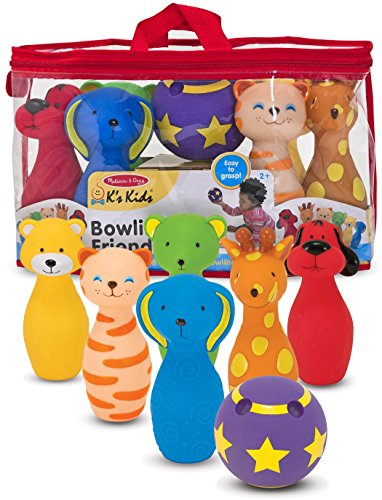 K's Kids Bowling Friends Preschool Playset + FREE Melissa & Doug Scratch Art Mini-Pad Bundle [91602]