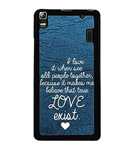 Fuson Premium 2D Back Case Cover Love exist With Multi Background Degined For Lenovo K3 Note
