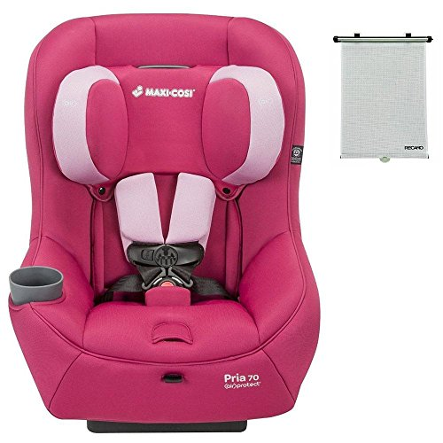 2015-Maxi-Cosi-Pria-70-Convertible-Car-Seat-Sweet-Cerise-with-BONUS-Retractable-Window-Sun-Shade