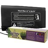 "3QMart Durable Waterproof Seedling Warming Heat Mat Warm Hydroponic Heating Pad 10"" x 20.75"" Mat Only"