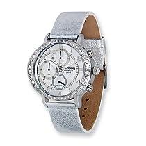 Moog Fashionista Morning fit Slvr Dial/Slvr Leather Chrono Watch