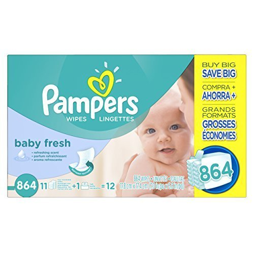 Pampers Baby Fresh Wipes Box, 864 Count by Pampers