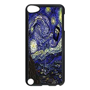 Starry Night TARDIS Doctor Who Blue Police Box Inspired Apple iPod Touch 5th Generation Nice Durable Hard Case Cover