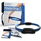 Pilates Ring - Best Magic Circle for Resistance Toning in Pilates & Yoga - Perfect for Fitness Training - Includes Instructional Pamphlet and Video Access - Inversion Studios