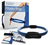 Pilates Ring – Best Magic Circle for Resistance Toning in Pilates & Yoga – Perfect for Fitness Training – Includes Instructional Pamphlet and Video Access – Inversion Studios