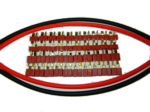 Deans Style Ultra Xt Connector 20 Pack W/Heat Shrink (Deans Connector With Heatshrink compare prices)