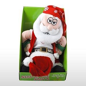 South Pole Animated Santa-sings Bad to the Bone