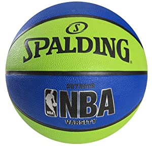 Spalding NBA Varsity Outdoor Rubber Basketball - Green/Blue - Size 7