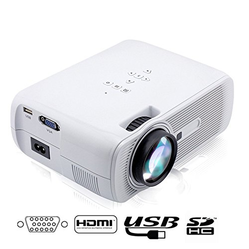 Flylinktech Portable Mini LED Projector 1000 Lumens Support 1080p 800*480 With AVVGAUSBSDHDMITV Home Theater Movie...