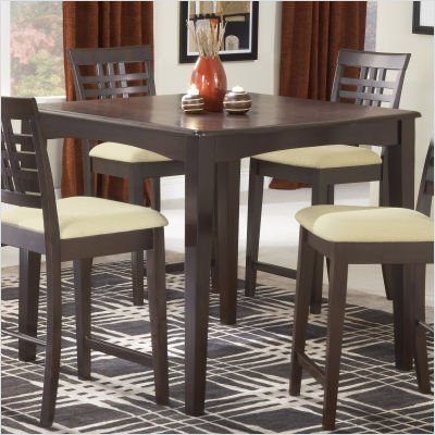 Hillsdale Tiburon Counter Height Gathering Table in Brown Espresso Finish