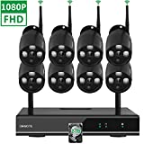 ?2TB Hard Drive Pre-installed?ONWOTE 1080P 8CH Full HD Wireless Security Camera System with 8 Outdoor 2.0 Megapixel Wifi IP Surveillance Camera for Home