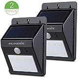 Sundix(TM) 2Pack Solar Powered 8 LED Motion Sensor Outdoor Light for Garden Backyard Deck Garage Pathway,Wireless Waterproof Durable Auto On / Off