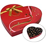 Hershey's Pot of Gold Assorted Milk and Dark Chocolate Premium Collection, Valentines Heart Box, 8.9-Ounce Box