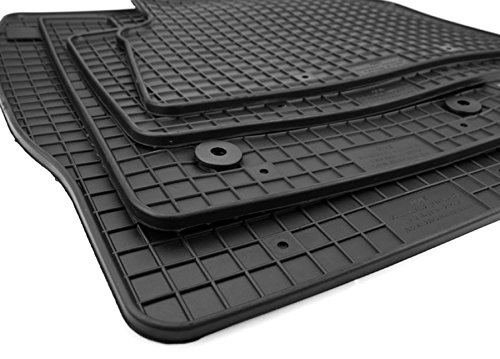 NEU-Gummimatten-Ford-Kuga-II-ab-2013-Fumatten-Gummi-Original-Qualitt-Auto-Allwetter-4-teilig-schwarz-rund-Druckknopf
