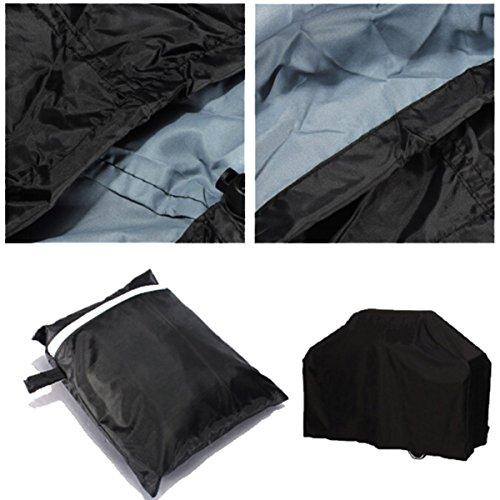 XCSOURCE Couvre Barbecue rond noir étanche antipoussière et parasolaire pour Barbecue extérieur de Jardin L OS434