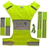Reflective Running Vest Set. Includes Mesh Vest (with Pocket) / 2 Reflective Bands / Shoelaces / 2 Adjustment...