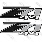 Chevrolet Silverado Z71 4x4 GM HD Chevy Black Decals Stickers 1500 2500 3500