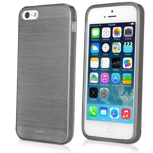 BoxWave Glassworks Crystal Slip Apple iPhone 5 Case - TPU Glossy Semi-Clear Flexible Protective Case with Shimmer - Apple iPhone 5 Cases and Covers (Graphite)