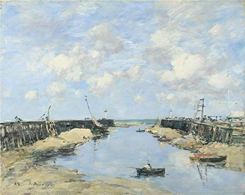 The Perfect Effect Canvas Of Oil Painting 'Eugne Boudin The Entrance To Trouville Harbour ' ,size: 8 X 10 Inch / 20 X 26 Cm ,this Beautiful Art Decorative Prints On Canvas Is Fit For Garage Decoration And Home Artwork And Gifts