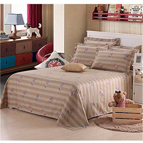 KAKA(TM) 1 Pcs Cotton Sheets Stylish Simplicity Bedding Baseball boy Quilt Cover Sheets (230-250cm)