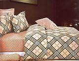 WRAP 100% COTTON DOUBLE BED DUVET SET (1 BEDSHEET 2 PILLOW COVERS & 1 DUVET COVER) CNSD-14