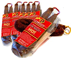 Chorizo Autentico HOT by Palacios. Imported from Spain. 7.9 oz Pack of 6