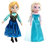 Disney Frozen Talking Bean Plush Doll Elsa & Anna Gift Set with Bonus Bracelet Making Kit