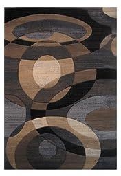 LA Rug Princess Modern Abstract Brown Tones Area Rug (2 Foot by 3 Foot 3 Inch) PR-183