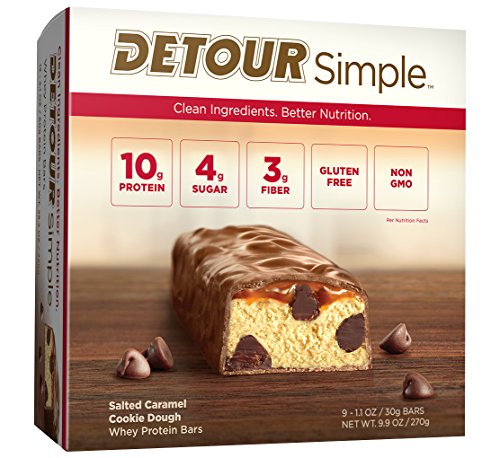 Detour Simple Bar, Salted Caramel Cookie Dough, 9 Count (Protein Cookie Dough compare prices)