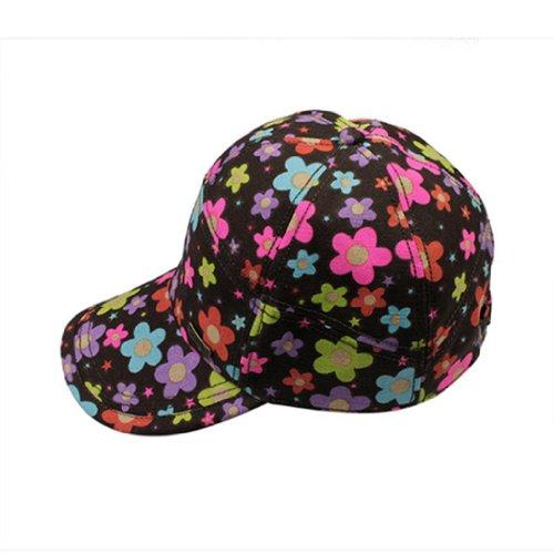 Kenmont Kids'S Summer Outdoor Flower Design Cotton Caps 21.6Inch Olive