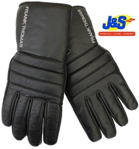 Frank Thomas Alaska 1Gants de moto en cuir gants de moto Noir J & S