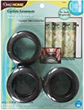 Dritz 44450 Round Curtain Grommets, Rustic Brown, 1-9/16-Inch, 8-Pack