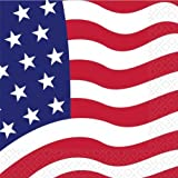 American Flag Napkins 16pk
