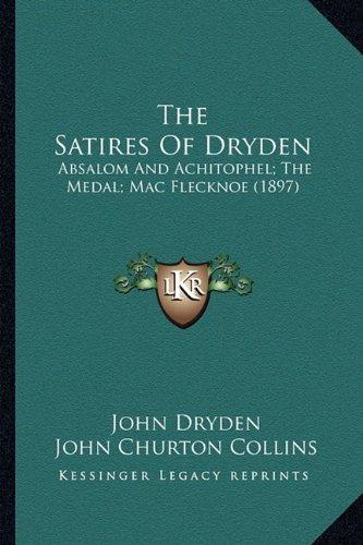 Dryden as a Satirist