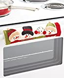 Snowman Holiday Appliance Handle Covers- Set of Three (3) Polyester - Dress up your oven and refrigerator handles. Get in the spirit!