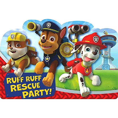 Paw Patrol Postcard Invitations [8 Per Pack] - 1